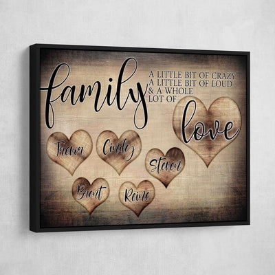 Personalized Family Love Premium Canvas - Amazing Canvas Prints