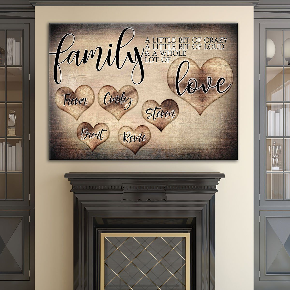 Personalized Family Love Premium Canvas Amazing Canvas Prints