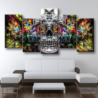 Psychedelic Skull - Amazing Canvas Prints
