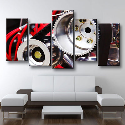 Dragster Engine - Amazing Canvas Prints