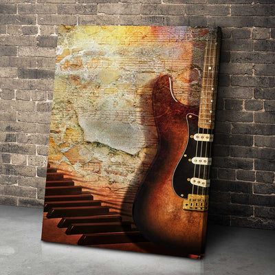 Rustic Guitar Premium Canvas - Amazing Canvas Prints
