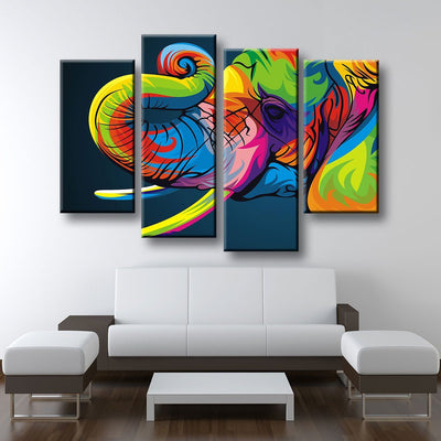 Abstract Elephant - Amazing Canvas Prints