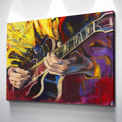 Abstract Guitarist - Amazing Canvas Prints