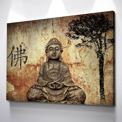 Ancient Buddha - Amazing Canvas Prints