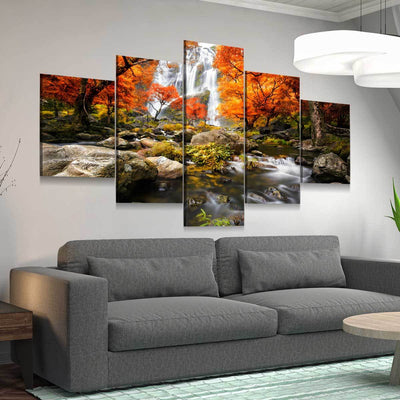 Autumn Waterfalls - Amazing Canvas Prints