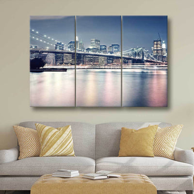 Brooklyn Bridge At Night - Amazing Canvas Prints
