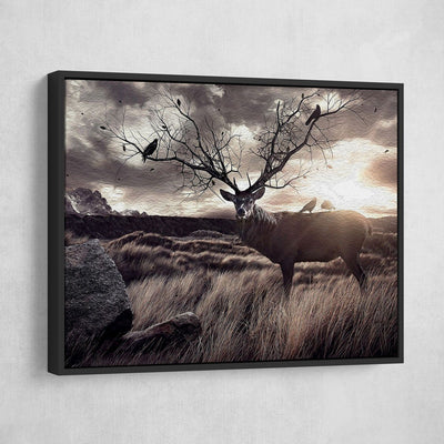 Badlands Deer Painting - Amazing Canvas Prints