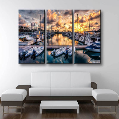 Boat Marina - Amazing Canvas Prints