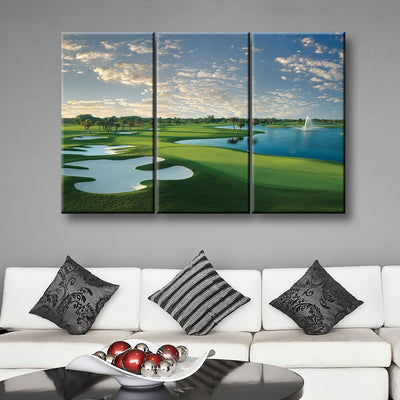 Blue Monster Hole 18 - Amazing Canvas Prints