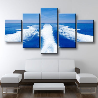 Boat Wake - Amazing Canvas Prints