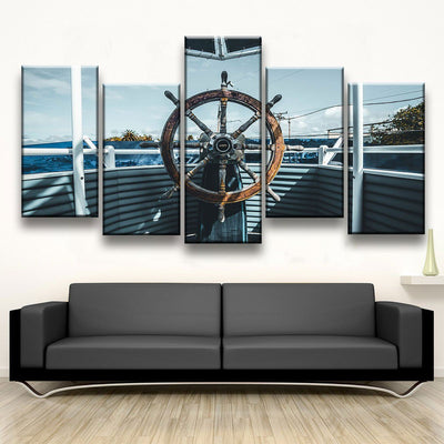 Boat Steering Wheel - Amazing Canvas Prints