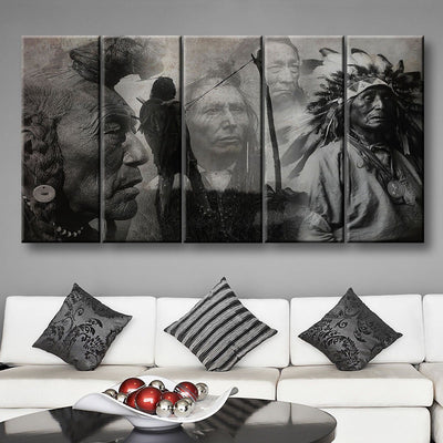B&W Native American - Amazing Canvas Prints