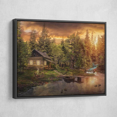 Cabin In The Woods - Amazing Canvas Prints