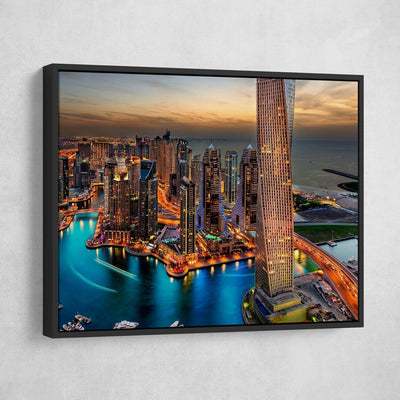 Dream City In Dubai - Amazing Canvas Prints