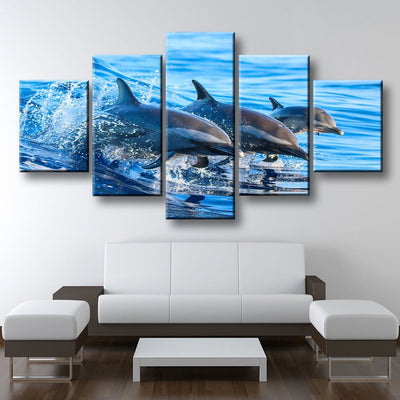 Dolphin Family - Amazing Canvas Prints