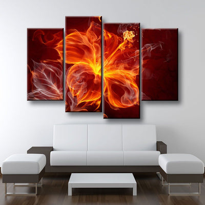 Fire Flower - Amazing Canvas Prints