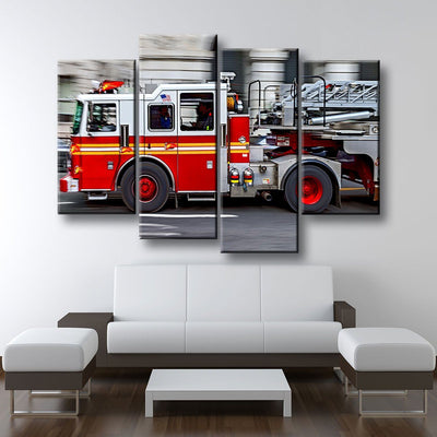 Fire Truck - Amazing Canvas Prints