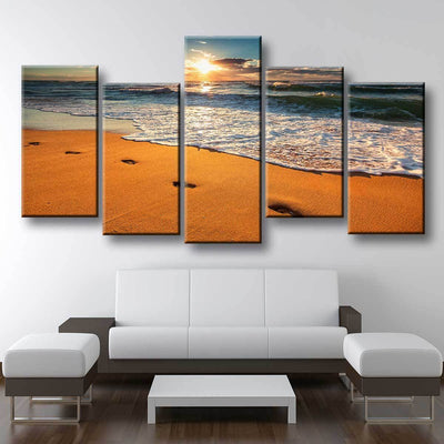 Footprints In The Sand - Amazing Canvas Prints