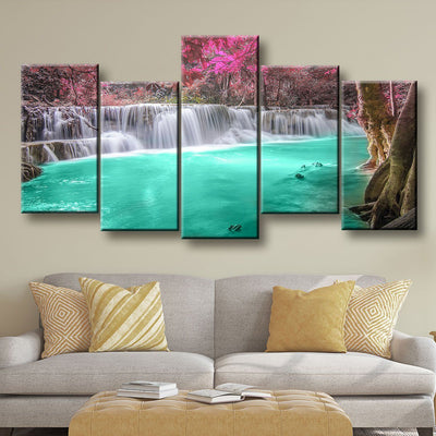 Forest Waterfall - Amazing Canvas Prints