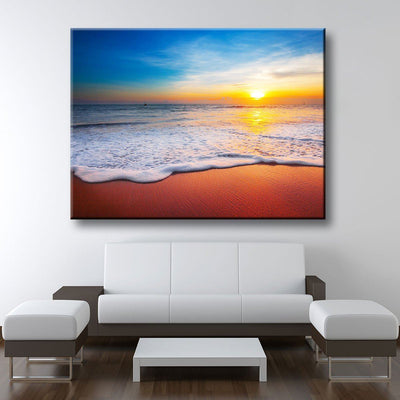 Golden Beach Sunset - Amazing Canvas Prints