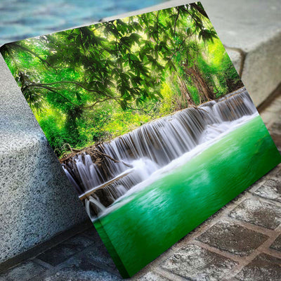 Green Tropical Waterfall - Amazing Canvas Prints