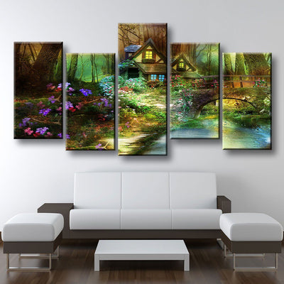 House In The Woods - Amazing Canvas Prints