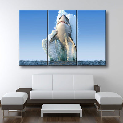 Jumping Great White - Amazing Canvas Prints