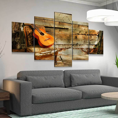 Lonely Guitar - Amazing Canvas Prints
