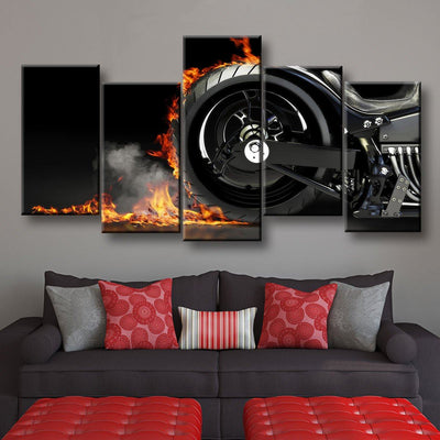 Motorcycle Burnout - Amazing Canvas Prints