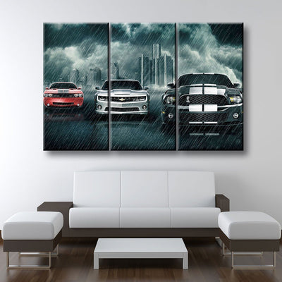 Muscle Car Rivalry - Amazing Canvas Prints
