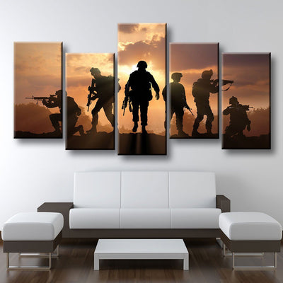 Military Soldiers - Amazing Canvas Prints