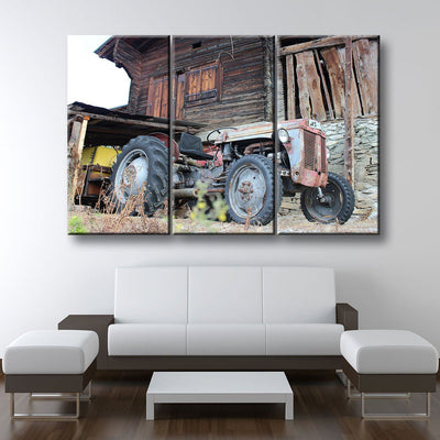 Old Abandoned Tractor - Amazing Canvas Prints