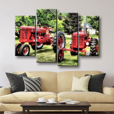Old Farmall Tractor - Amazing Canvas Prints
