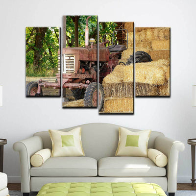 Old Rusty Tractor - Amazing Canvas Prints