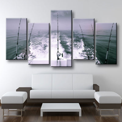 Offshore Fishing Black & White Version - Amazing Canvas Prints