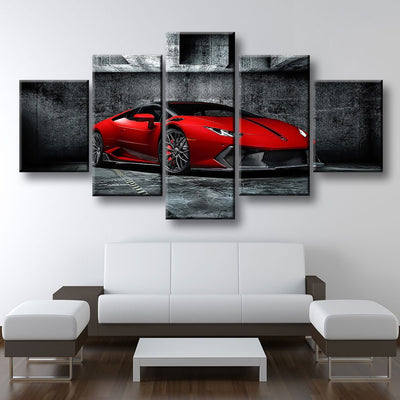 Red Lamborghini - Amazing Canvas Prints