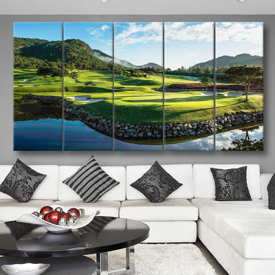 Rolling Greens Course - Amazing Canvas Prints