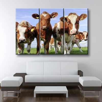 Red Holstein Cattle - Amazing Canvas Prints