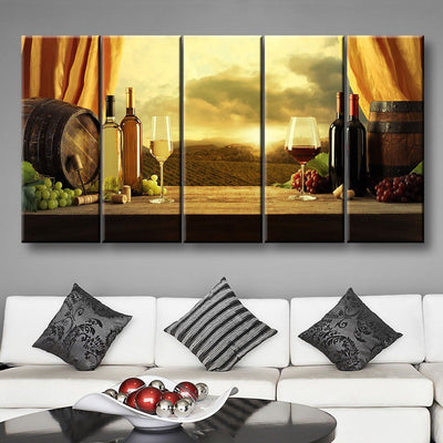Red Or White Wine - Amazing Canvas Prints