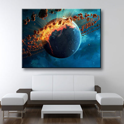 Stellar Planet Explosion - Amazing Canvas Prints