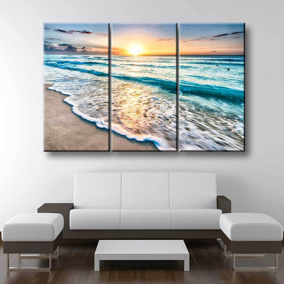 Sunrise Over Cancun Beach - Amazing Canvas Prints