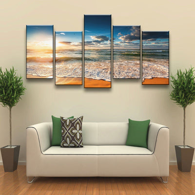 Surreal Sunrise Beach - Amazing Canvas Prints