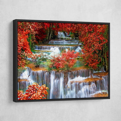 Tropical Paradise Colorful Waterfall - Amazing Canvas Prints