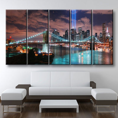Twin Tower Lights - Amazing Canvas Prints
