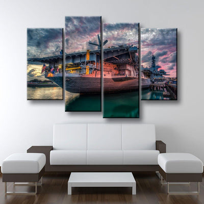 USS Midway Aircraft Carrier - Amazing Canvas Prints