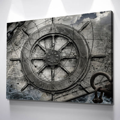 Vintage Nautical Collage - Amazing Canvas Prints