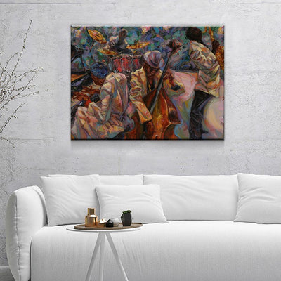 Jazz Band - Amazing Canvas Prints