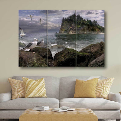 Seagull Island - Amazing Canvas Prints