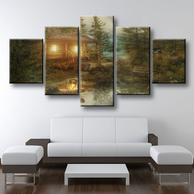 Secluded Cabin - Amazing Canvas Prints