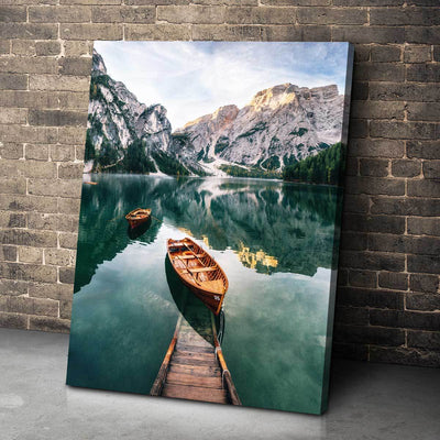 Seekofel Mountain Lake - Amazing Canvas Prints